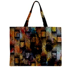 Fabric Weave Zipper Mini Tote Bag by Simbadda