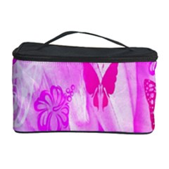 Butterfly Cut Out Pattern Colorful Colors Cosmetic Storage Case by Simbadda