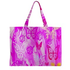 Butterfly Cut Out Pattern Colorful Colors Zipper Mini Tote Bag by Simbadda