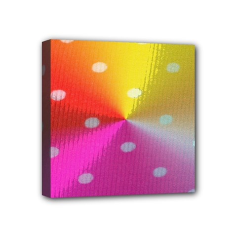Polka Dots Pattern Colorful Colors Mini Canvas 4  X 4  by Simbadda