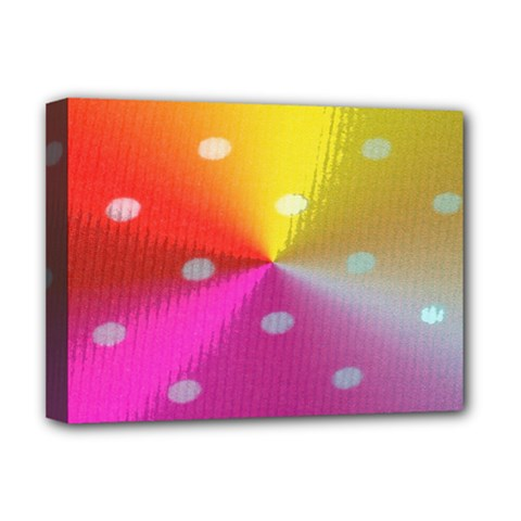 Polka Dots Pattern Colorful Colors Deluxe Canvas 16  X 12   by Simbadda