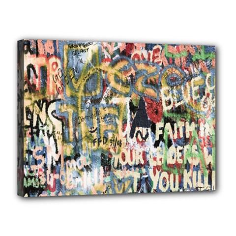 Graffiti Wall Pattern Background Canvas 16  X 12  by Simbadda