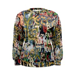 Graffiti Wall Pattern Background Women s Sweatshirt