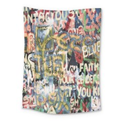 Graffiti Wall Pattern Background Medium Tapestry by Simbadda