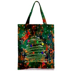 Watercolour Christmas Tree Painting Classic Tote Bag by Simbadda