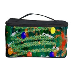 Watercolour Christmas Tree Painting Cosmetic Storage Case by Simbadda