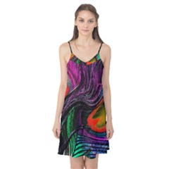 Peacock Feather Rainbow Camis Nightgown