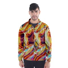 Colourful Abstract Background Design Wind Breaker (men) by Simbadda