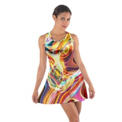 Colourful Abstract Background Design Cotton Racerback Dress by Simbadda