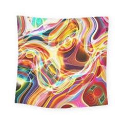 Colourful Abstract Background Design Square Tapestry (small) by Simbadda