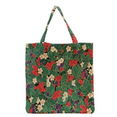 Berries And Leaves Grocery Tote Bag by Simbadda