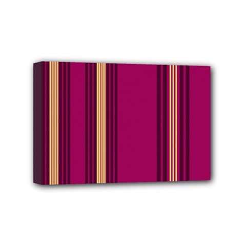 Stripes Background Wallpaper In Purple Maroon And Gold Mini Canvas 6  X 4  by Simbadda
