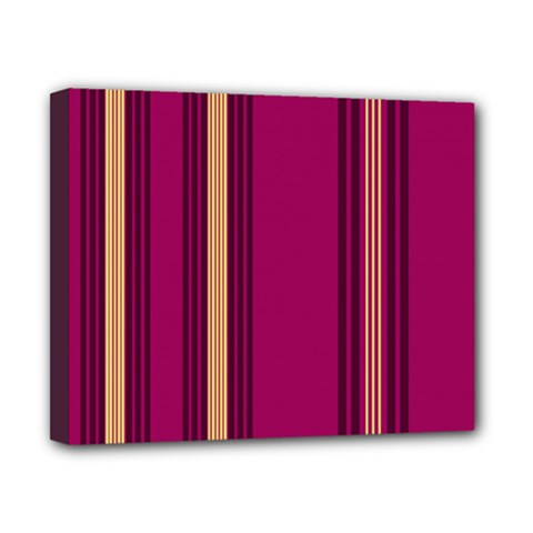 Stripes Background Wallpaper In Purple Maroon And Gold Canvas 10  X 8  by Simbadda