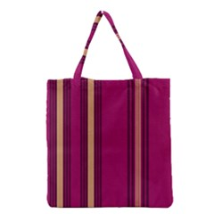 Stripes Background Wallpaper In Purple Maroon And Gold Grocery Tote Bag