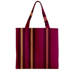 Stripes Background Wallpaper In Purple Maroon And Gold Zipper Grocery Tote Bag by Simbadda