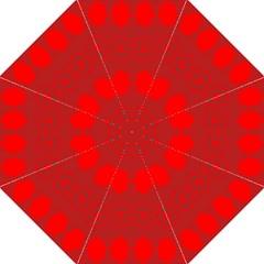 Red Flowers Velvet Flower Pattern Golf Umbrellas