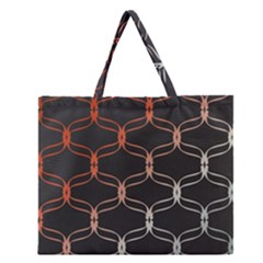 Cadenas Chinas Abstract Design Pattern Zipper Large Tote Bag by Simbadda
