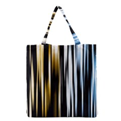 Digitally Created Striped Abstract Background Texture Grocery Tote Bag by Simbadda
