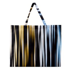 Digitally Created Striped Abstract Background Texture Zipper Large Tote Bag by Simbadda