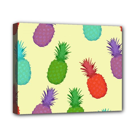 Colorful Pineapples Wallpaper Background Canvas 10  X 8  by Simbadda