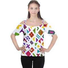 A Colorful Modern Illustration For Lovers Women s Cutout Shoulder Tee by Simbadda