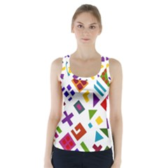 A Colorful Modern Illustration For Lovers Racer Back Sports Top by Simbadda