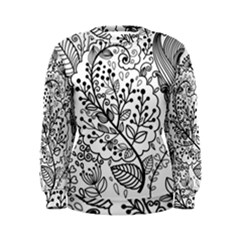 Black Abstract Floral Background Women s Sweatshirt