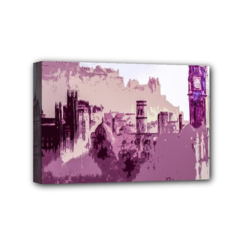 Abstract Painting Edinburgh Capital Of Scotland Mini Canvas 6  X 4  by Simbadda