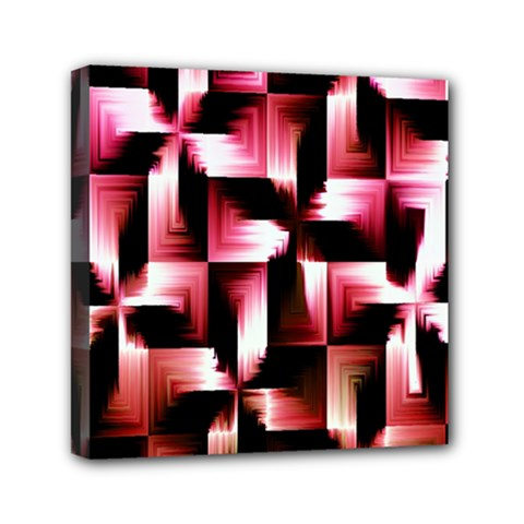 Red And Pink Abstract Background Mini Canvas 6  X 6  by Simbadda