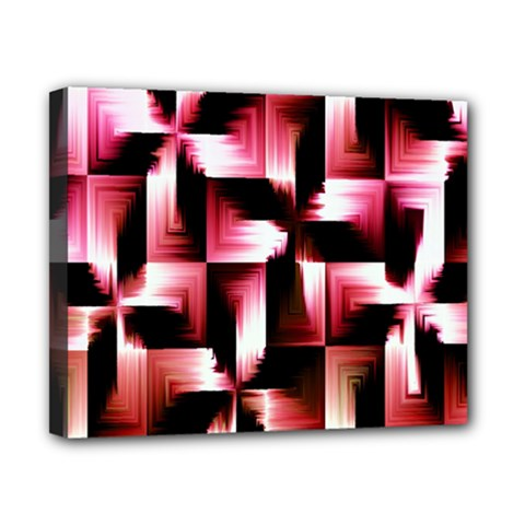 Red And Pink Abstract Background Canvas 10  X 8  by Simbadda