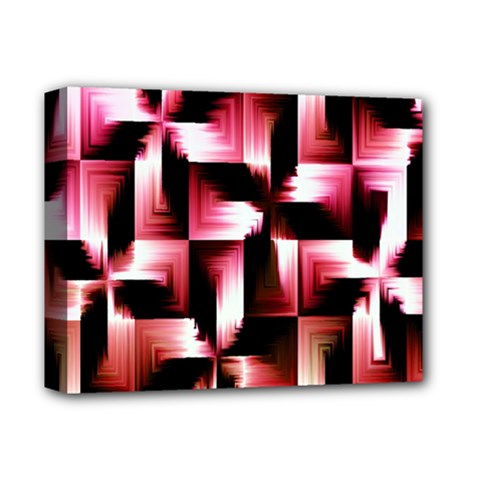 Red And Pink Abstract Background Deluxe Canvas 14  X 11  by Simbadda