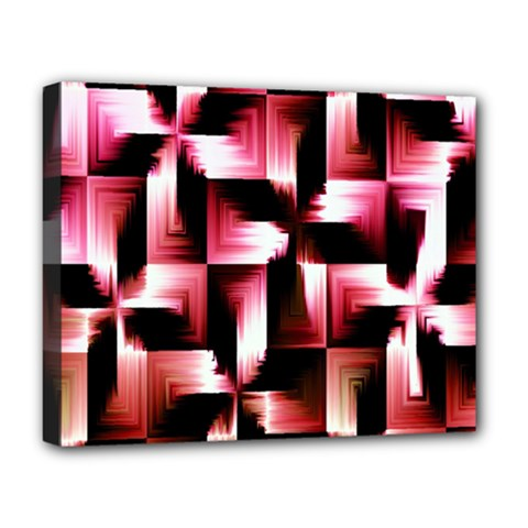 Red And Pink Abstract Background Deluxe Canvas 20  X 16   by Simbadda