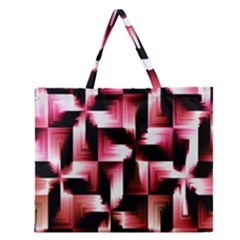 Red And Pink Abstract Background Zipper Large Tote Bag by Simbadda