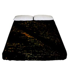 Abstract Background Fitted Sheet (Queen Size)