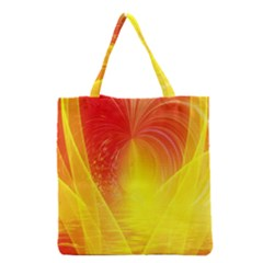 Realm Of Dreams Light Effect Abstract Background Grocery Tote Bag by Simbadda