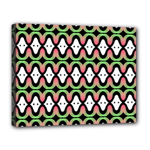 Abstract Pinocchio Journey Nose Booger Pattern Canvas 14  X 11  by Simbadda