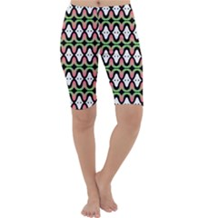 Abstract Pinocchio Journey Nose Booger Pattern Cropped Leggings