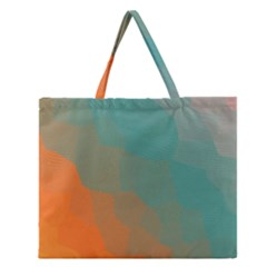 Abstract Elegant Background Pattern Zipper Large Tote Bag by Simbadda