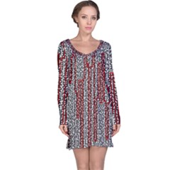 Abstract Geometry Machinery Wire Long Sleeve Nightdress