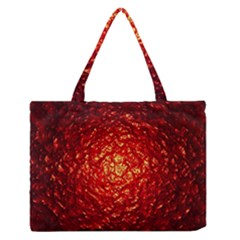 Abstract Red Lava Effect Medium Zipper Tote Bag by Simbadda