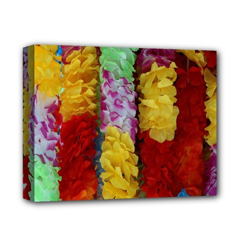 Colorful Hawaiian Lei Flowers Deluxe Canvas 14  X 11  by Simbadda