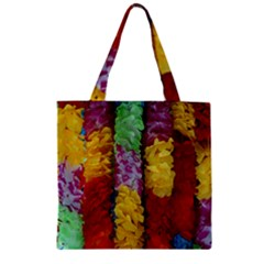 Colorful Hawaiian Lei Flowers Zipper Grocery Tote Bag by Simbadda
