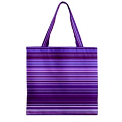 Stripe Colorful Background Zipper Grocery Tote Bag by Simbadda