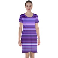 Stripe Colorful Background Short Sleeve Nightdress