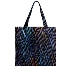 Abstract Background Wallpaper Zipper Grocery Tote Bag by Simbadda