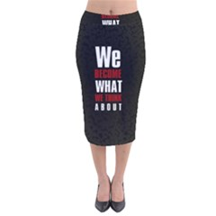 Poster Velvet Midi Pencil Skirt by chirag505p