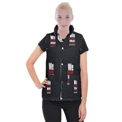 Poster Women s Button Up Puffer Vest by chirag505p