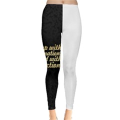 PosterWake up with determination......inspirational quotes Leggings  by chirag505p