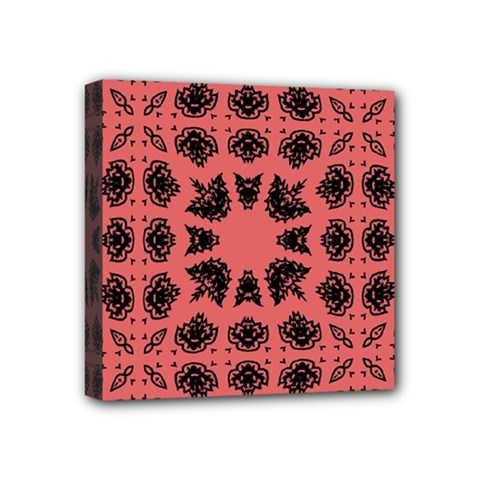 Digital Computer Graphic Seamless Patterned Ornament In A Red Colors For Design Mini Canvas 4  X 4  by Simbadda