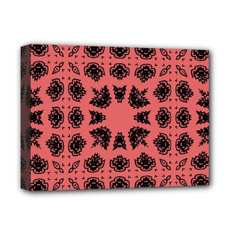 Digital Computer Graphic Seamless Patterned Ornament In A Red Colors For Design Deluxe Canvas 16  X 12   by Simbadda